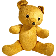 SALE Large German Hard Stuffed Boldfaced Teddy ca. 1930