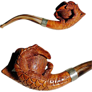 Beautiful Carved Pipe Claw Shape