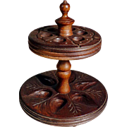 Beautiful Treen Pipe Holder for Six Pipes