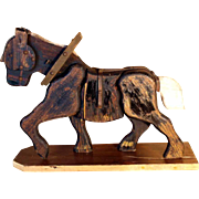 SALE Large Wooden Horse Hand Crafted Toy