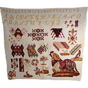 Sampler Fantastic Motifs Rooster Birds and Dogs and Much More