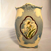 French Vase Majolica Choisy le Roi  Hand Painted about 1900