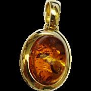 SALE Beautiful Amber Gold Pendant Fine