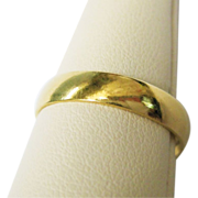 SALE 18K Gold Wedding Band Fine