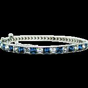 Deco Sterling Paste Bangle Bracelet Fine