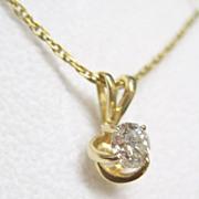 SALE Gorgeous Diamond 14K YG Pendant Necklace Fine