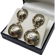 Vintage Navajo Sterling Dangle Earrings Ronnie Hurley