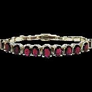 SALE Vintage Rhodolite Garnet Sterling Silver Bracelet Fine