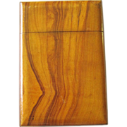 SALE Vintage Wood Card Case Visiting Card Case
