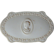 Vintage Luxor French Ivory Powder Box