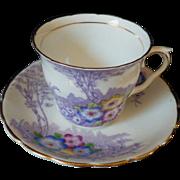 Hard to Find Vintage Hand Painted Primrose Cup & Saucer Set