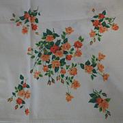 Vintage Wilendure Roses Tablecloth