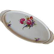 SALE Vintage Signed Hand Painted Porcelain Vanity Tray