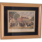 "Vintage Framed Full Color Reproduction Lithograph - ""Trotting Cracks of Philadelphia"""