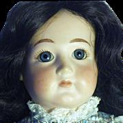 Vintage Bisque & Cloth Artisan Signed Doll