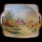 SALE Vintage Handpainted Signed Nippon Porcelain Bisque Bowl
