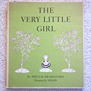 """Vintage Hardbound Children's Book - """"The Very Little Girl"""""""