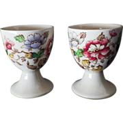 "Vintage Pair of Royal Doulton Egg Cups ""Monmouth"" Pattern"