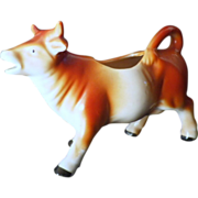 SALE Vintage Porcelain Cow Cream Pitcher from Germany