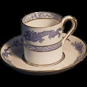 "Rare Vintage ""Blue Mandarin"" or ""Dragon"" by Crown Staffordshire Demitasse"