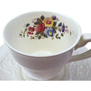 "Vintage Wedgwood Patrician with ""Swansea"" Pattern Demitasse Cup & Saucer Set"