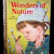 "Vintage Little Golden Book - ""Wonders of Nature"""