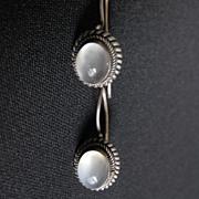 Vintage Sterling Silver & Moonstone Earrings