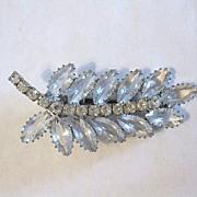 Vintage Signed Continental Rhinestone Hair Clip