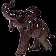 Vintage Signed Goebel African Elephant Figurine