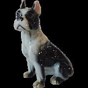 Vintage Porcelain Boston Bull Terrier Dog Figurine
