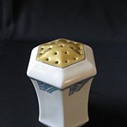 SALE Vintage Signed C.S. Prussia Art Deco Porcelain Muffineer or Shaker