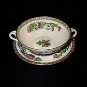 "SALE Vintage Coalport  ""Indian Tree"" Cream Soup & Saucer Set"