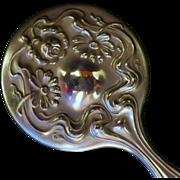 Vintage Art Nouveau Silverplate Miniature Hand Mirror