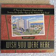 """Vintage Hardbound Hotel Postcard Book """"Wish You Were Here"""""""