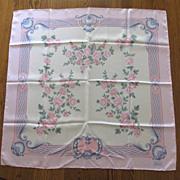 Vintage Alcott & Andrews Floral Silk Scarf