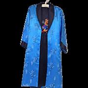 Vintage Reversible Silk Dragon Kimono Robe or Long Jacket
