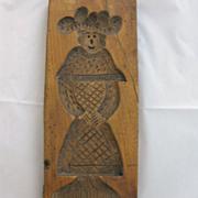 Antique Primitive Wood Cookie Mold