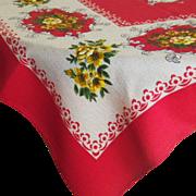 Vintage Linen Rectangular Tablecloth