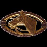 Vintage Horse Head Brooch