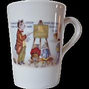 Vintage Bone China Cat & Mouse Teacher Motto Mug