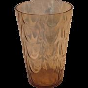 Vintage Fostoria Amber Glass Flower Vase