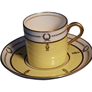 Scarce Vintage Aynsley Pattern 3138 Demitasse Cup & Saucer Set