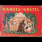 "Vintage Movable Children's Book - ""Hansel & Gretel"""