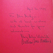 "Rare Vintage Autographed Hardbound Book - ""The Strange Little Man in the Chili-Red Pants"""