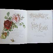 SOLD Victorian Gift Book Ernest Nister Rose Leaves Color Chromos Loaded with Roses Poetry Poem