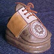 Shoe Planter Vintage Clay Cobbler Pottery