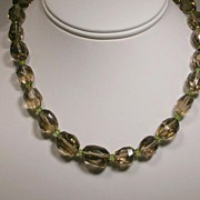 Smoky Quartz and Peridot Necklace