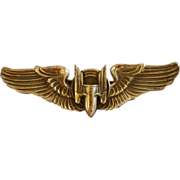 WWII US Army Airborne Gunner's Bullet Wings Pin