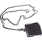 SALE Gun Metal Chain with Made in France Purse Chatelaine