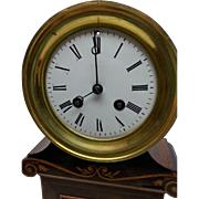 Early Unusual French Clock with Thermometer